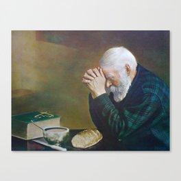 Eric Enstrom Grace Man Praying Over Bread Leinwanddruck