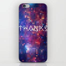 Galactic Squares #1 Thank You Card iPhone Skin