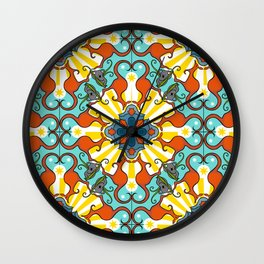 Kaleidoscopic Australia's Animals Wall Clock