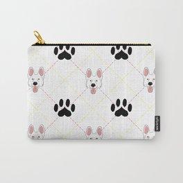 White German Shepherd Paw Print Pattern Carry-All Pouch