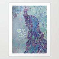 Peacock 02 (Collage) Art Print