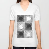 psych V-neck T-shirts featuring psych by glitch