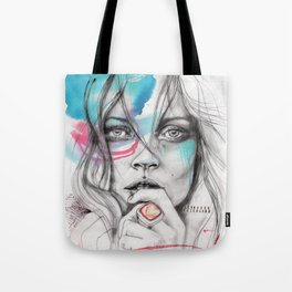 Kate Moss by Leo Tezcucano Tote Bag