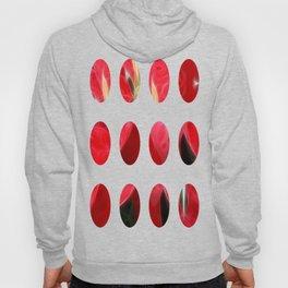 Mottled Red Poinsettia 2 Art Circles 2 Hoody