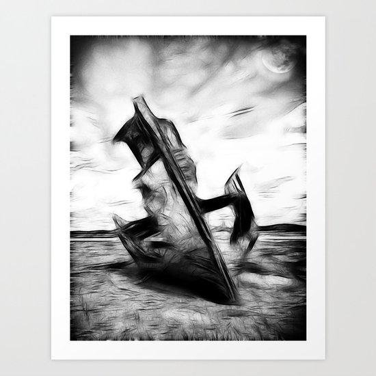 Ghostly Wreck Art Print