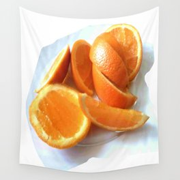 Orange Quarters Wall Tapestry