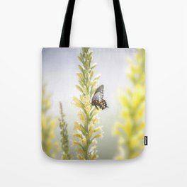 """Butterfly and Flowering Shindagger"" by Murray Bolesta! Tote Bag"