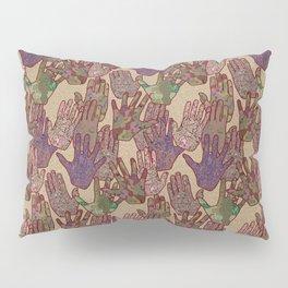 Give Me 5 [Hand Prints], Tan Pillow Sham