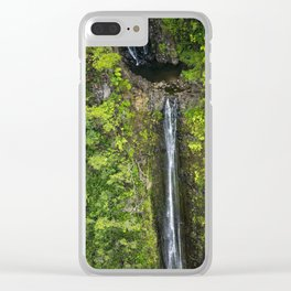 Just Beyond the No Trespassing Sign - Crooked Tropical Waterfall Clear iPhone Case