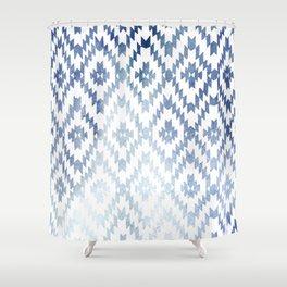 Indigo Ikat Print 3 Shower Curtain
