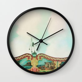 Summer Carousel Wall Clock