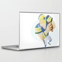 football Laptop & iPad Skins featuring Football by Dues Creatius
