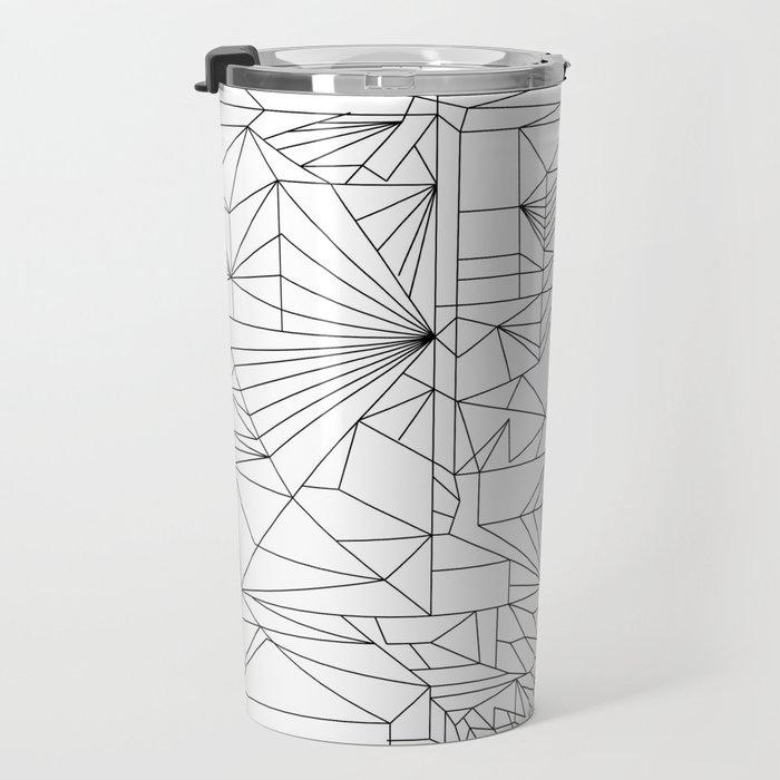 Geometric Adult Coloringbook Template 1 Travel Mug