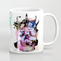kindle Mugs featuring 129 by ALLSKULL.NET