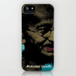Mahatma Gandhi Pop Art Pictures iPhone Case
