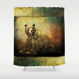 Grizzly Bear in Morning Sun Shower Curtain