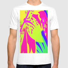 peace and love White MEDIUM Mens Fitted Tee