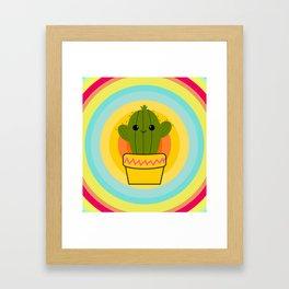 Cute cactus Framed Art Print