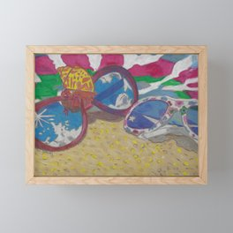 At the Beach Framed Mini Art Print