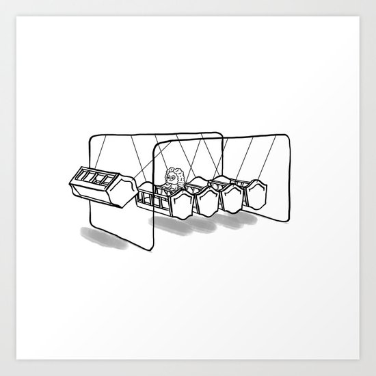 Newton's cradle Art Print