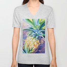 Kauai Pineapple 3 Unisex V-Neck
