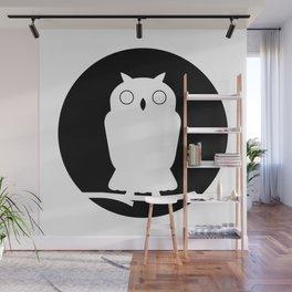 Owl outline - black Wall Mural