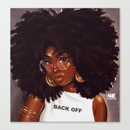 Back Off Canvas Print