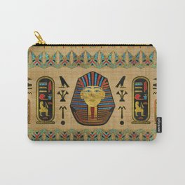 Egyptian Sphinx Ornament on papyrus Carry-All Pouch