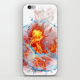 Fire And Water I Rose Beautyfull Gift Shirt iPhone Skin