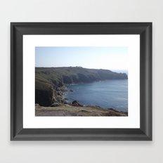 Along The Cliff Edge! Framed Art Print