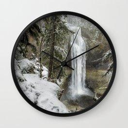 Salt Creek Falls, Another View Wall Clock