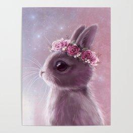 Fairy bunny Poster
