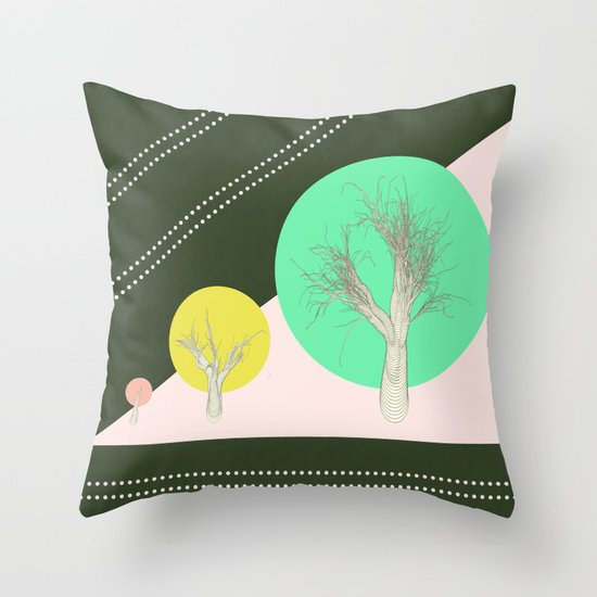 In my world forests are geometric Throw Pillow