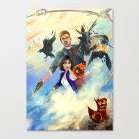 bioshock infinite Canvas Prints featuring Bioshock Infinite by Alba Palacio