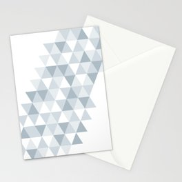 shades of ice gray triangles pattern Stationery Cards