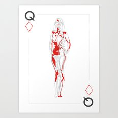 Queen of Diamonds Art Print