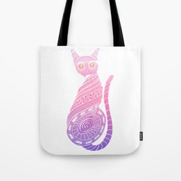 Twisted cat with fired eyes Tote Bag