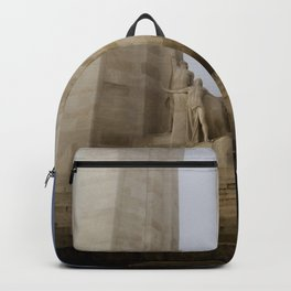 Towers in the mist Backpack