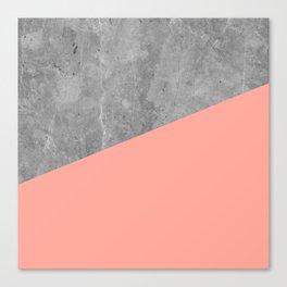 Coral Pink Concrete Canvas Print