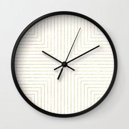 Converge Three Gold Wall Clock