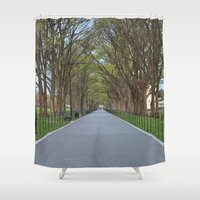 the national Shower Curtains featuring National Mall Promenade by Nicolas Raymond