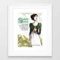 pride and prejudice Framed Art Prints featuring Pride & Prejudice by The History Witch