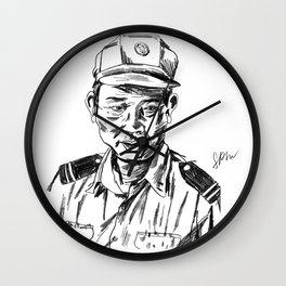 Vietnamese Security Guard in Uniform Wall Clock