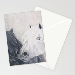 Pony Kiss Black and White Shetland Ponies Stationery Cards