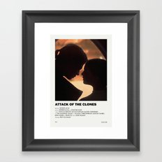 Attack of the Clones Alternative Vintage Poster Framed Art Print