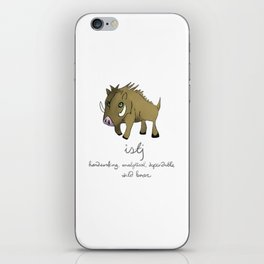 ISTJ MBTI Spirit Animal Wild Boar iPhone Skin