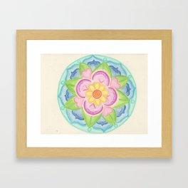 Clearing Mandala Framed Art Print