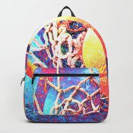 Basketball art swoosh print 84 Backpack