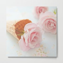 Strawberry Ice Cream Metal Print