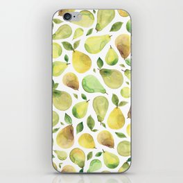 Watercolour Pears iPhone Skin